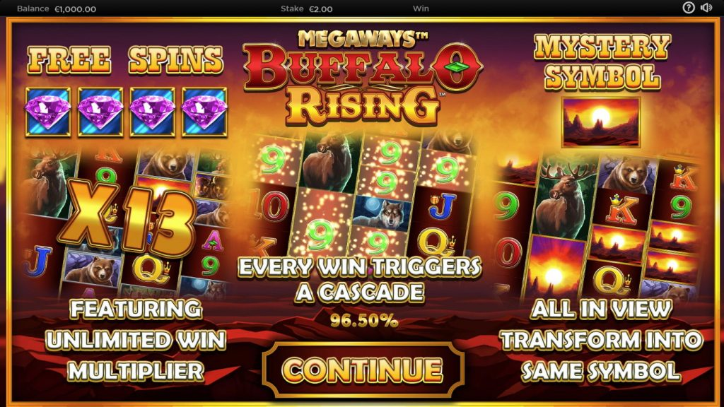Buffalo Rising Megaways Jackpot King bonuses